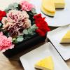 母の日ギフトセット 花のモナミ フラワーボックス × GoldenCheese ニューヨークチー